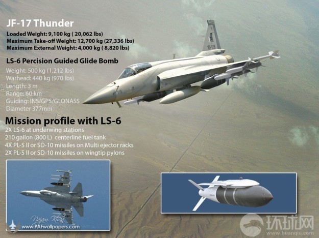JF-17 Thunder Pakistan Air Force PAF C-802A Anti-ship Missile SD-10A BVRAAM PL-5E II WVRAAM 500 kg LS-6 Satellite Inertially Guided Bomb LT-3 LT-2LS-500J Laser HAFER H-4PGM RAAD MAR-1 (1)