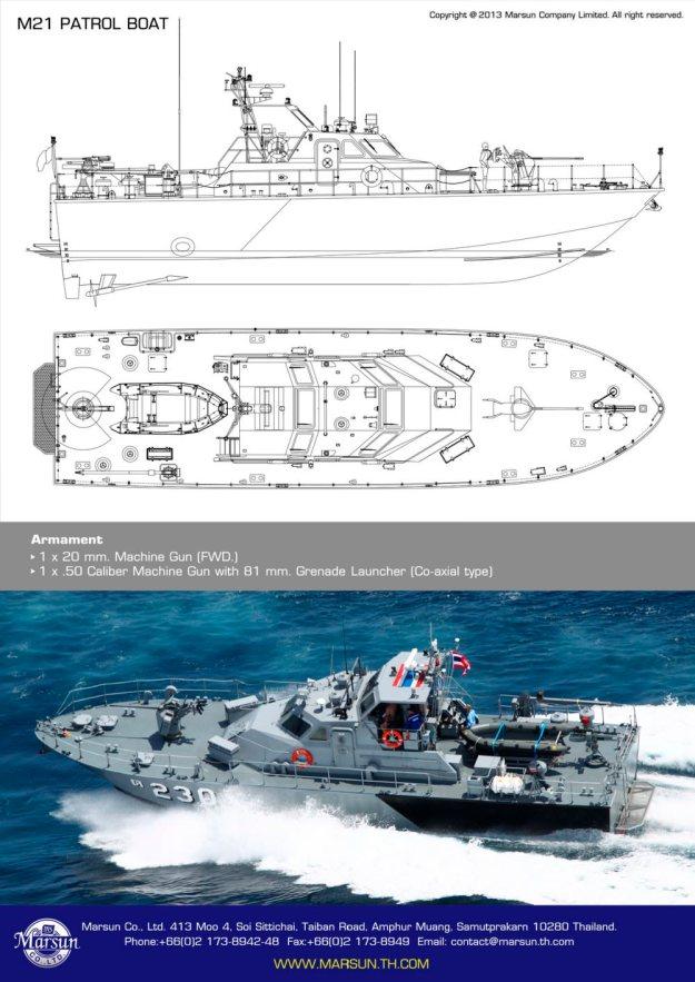 assault and patrol boats and patrol gun boats built by
