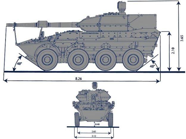 Centauro_II_2_MGS_Main_Gun_System_8x8_anti-tank_wheeled_armoured_vehicle_Oto-Melara_Iveco_Italy_Italian_line_drawing_blueprint_001
