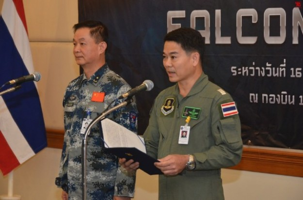 Thailand Gripens and Chinese PLAAF J-11 joint exercises 5