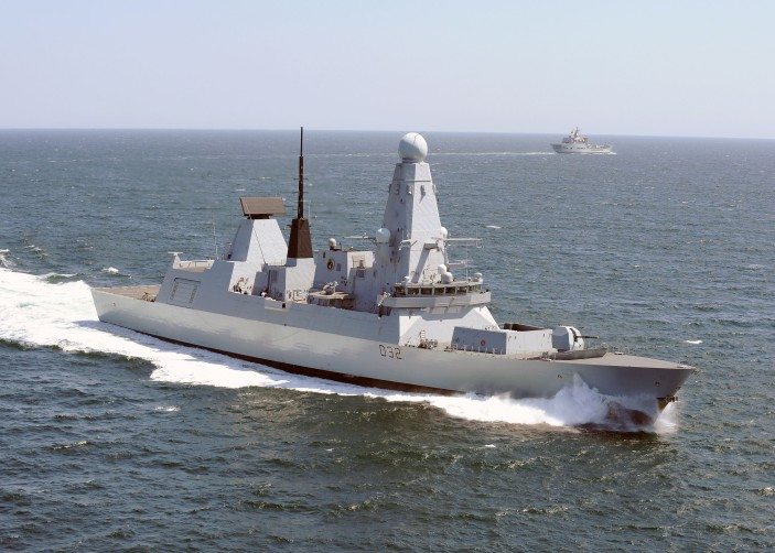 Type 45 Destroyer HMS Daring in the English Channel