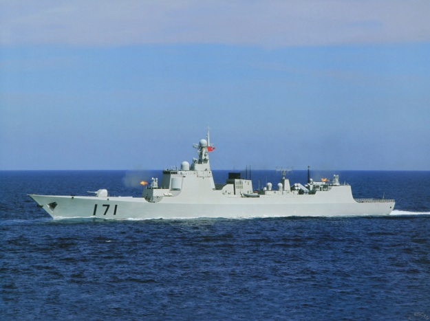 Type 052C HHQ-9 destroyer Luyang II class Lanzhou People's Liberation Army Navy china Active Electronically Scanned Array(AESA) Type 730 CIWS C-805 602 anti-ship land attack cruise missile