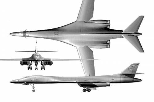 B 1b Lancer Long Range Strategic Bomber Thai Military