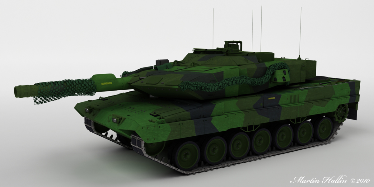 Stridsvagn 121 and 122 - Swedish version of the German Leopard II
