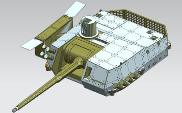 ZSSW-30 remotely operated turret for the Rosomak Mk2.
