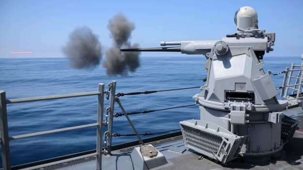 USS Kidd (DDG 100) conducts live-fire exercise during COMPTUEX