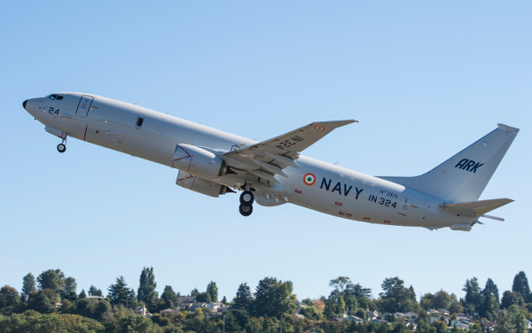 P-8I Group and Flyaway Takeoff
