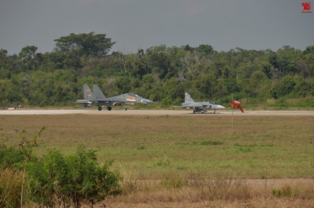 Thailand Gripens and Chinese PLAAF J-11 joint exercises 2
