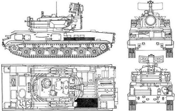 Tunguska M1 Anti Aircraft System 2k22m Sa 19 Grison