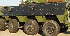 To improve VBCI ballistic and IED protection, steel or titanium panels are bolted on top of the aluminum hull armour (rather like the CF's TLAV ).