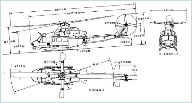 uh-1y_bell_venom_super_huey_medium_size_utility_helicopter_united_states_air_force_line_drawing_blueprint_001